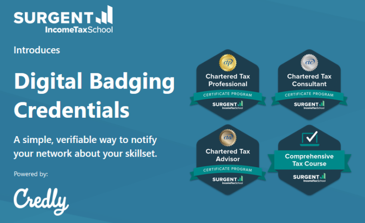 Surgent Income Tax School Now Offers Digital Badging